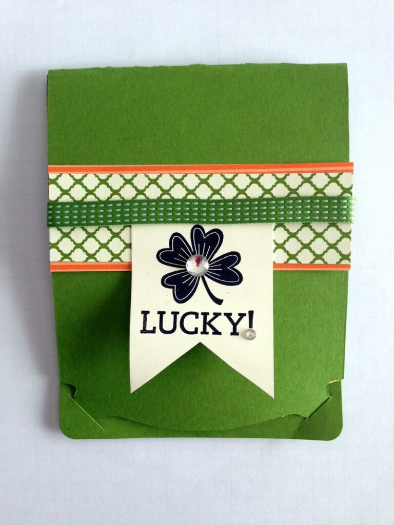 Pop Up Card Outside St. Patrick's Day