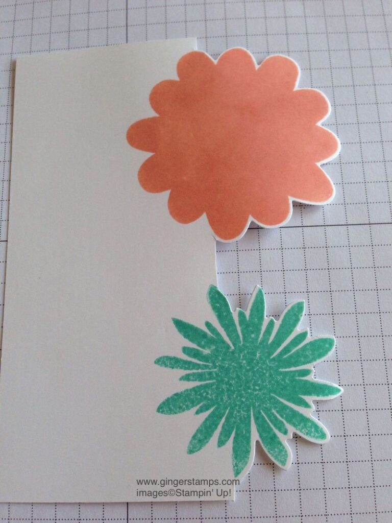 Stamp Flowers on Cutout