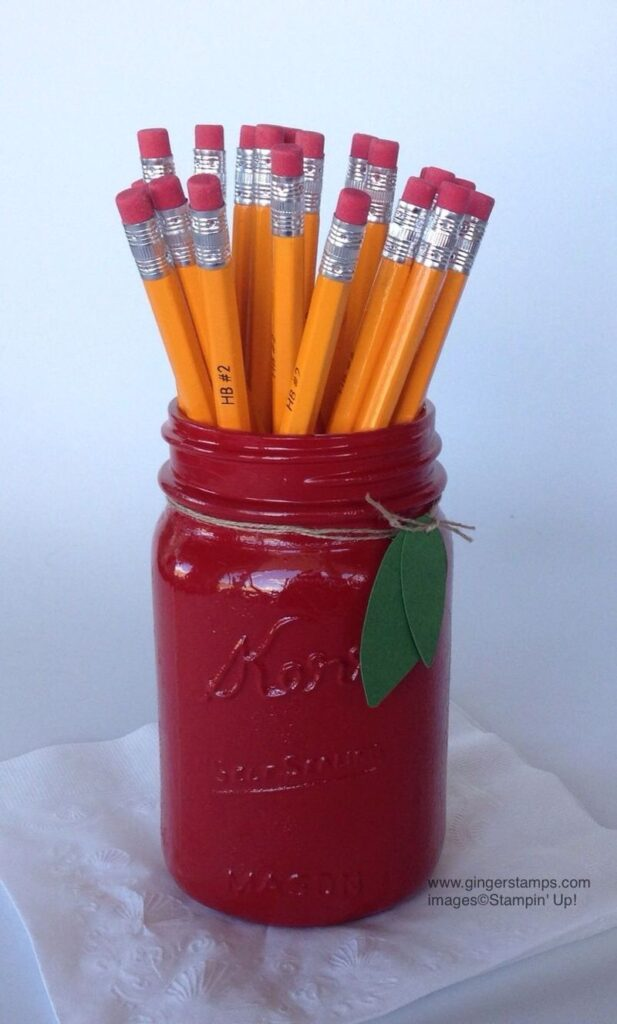 Canning Jar with pencils